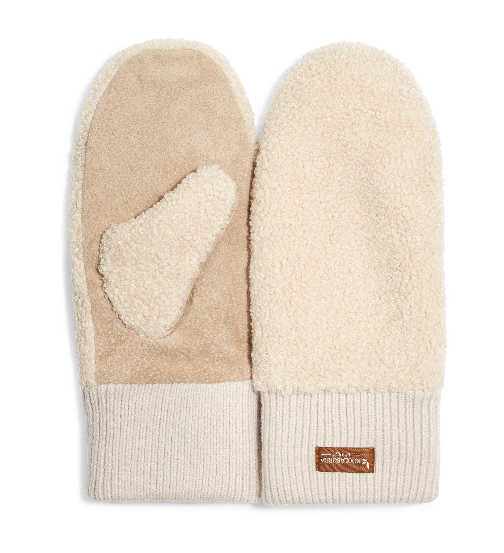 Sherpa Mitten With Knit Cuff