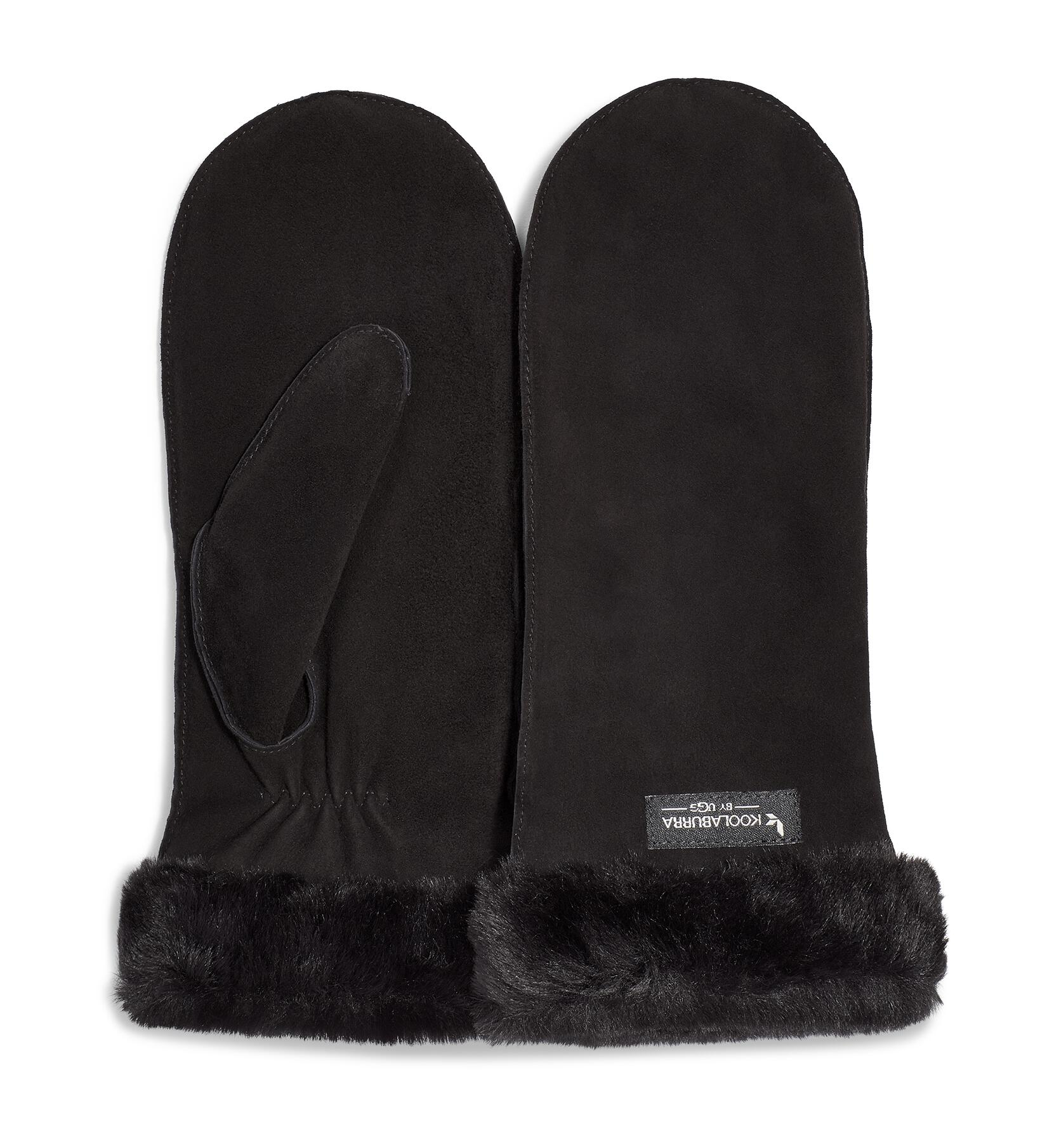 Mitten with Faux Fur Cuff